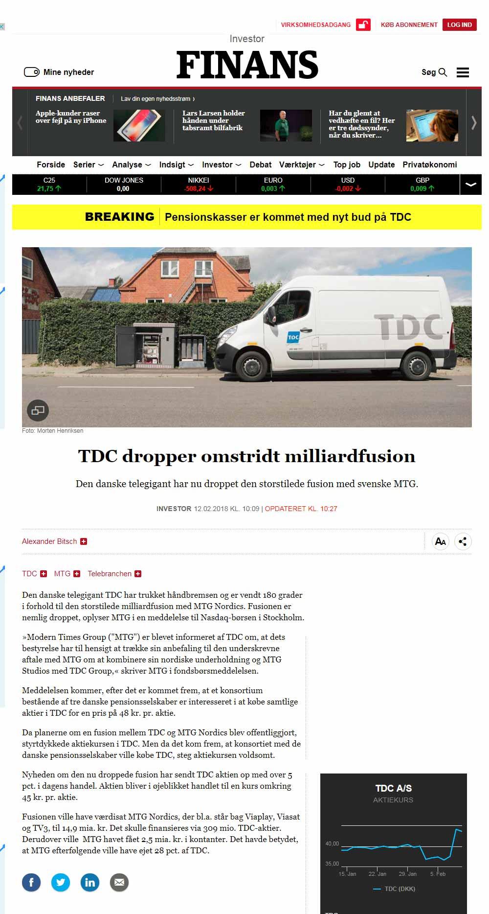 Pressefoto af en pressefotograf i Nordjylland